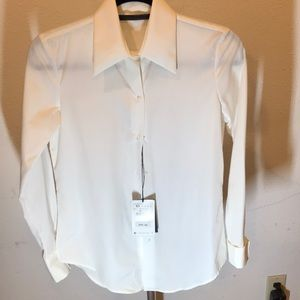 Zara White Button Down Shirt